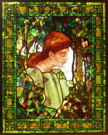 Woman in the Woods Window