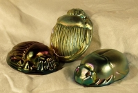 Glass Scarab Paperweights