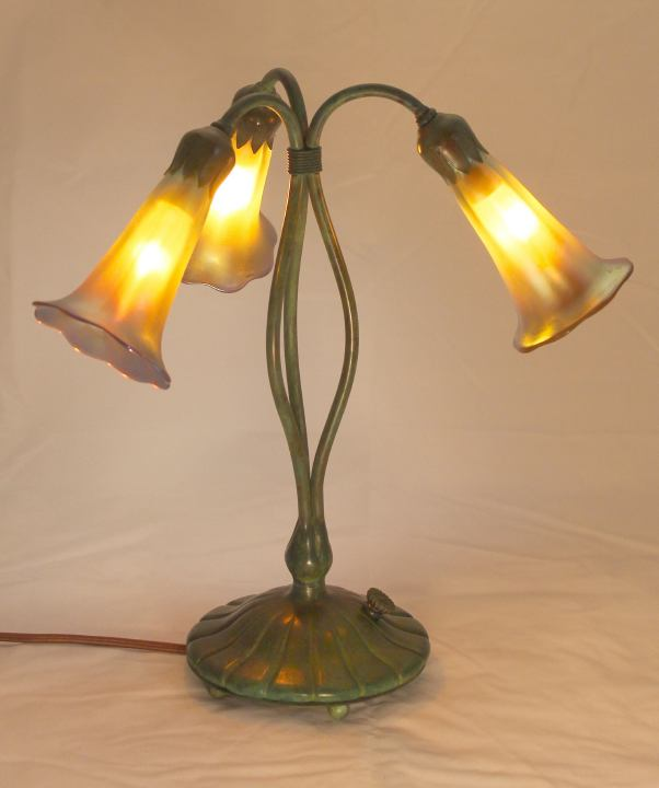 Three Light Lily Lamps