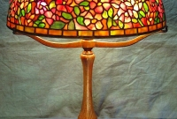 Lamp of the Week: 16″ Wild Rose Shade on Ribbed w/Arms Base