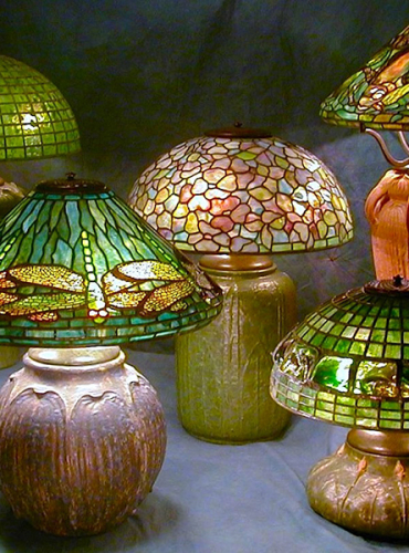 Lamps on Pottery Bases