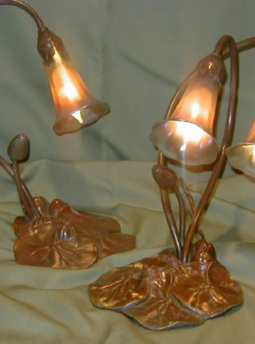 1 & 2 Light Lily Lamps