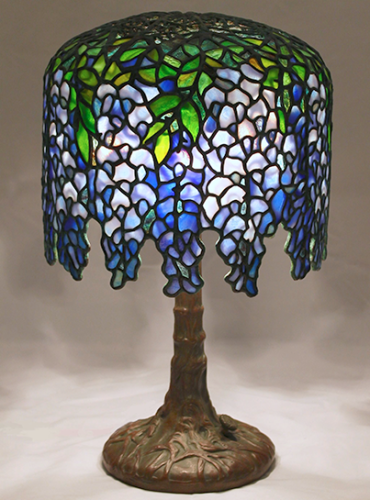 Stained glass lamps 10 wisteria on tree trunk base mozeypictures Gallery