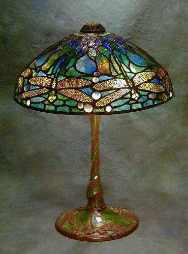 "14"" Dragonfly on Dragonfly Stemmed Mosaic Base - Created in 2002"
