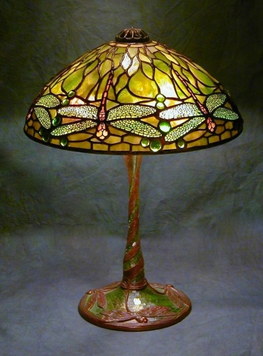 "14"" Dragonfly on Dragonfly Stemmed Mosaic Base - Created in 2005"