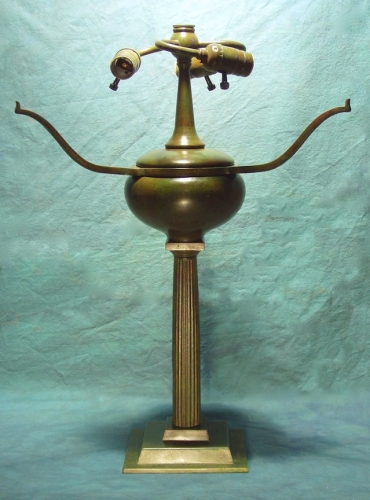 "Doric Column Base - 23.5"" Tall to Armset"