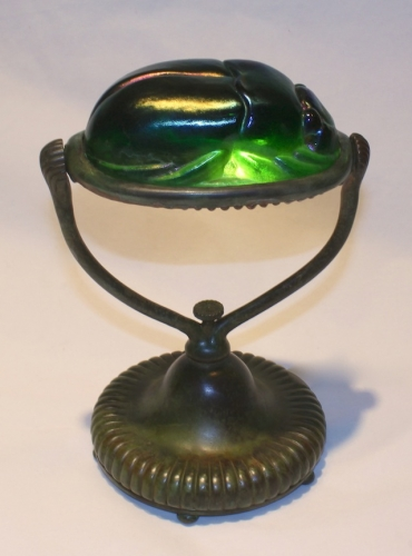 "Scarab Lamp - 8.5"" Tall"