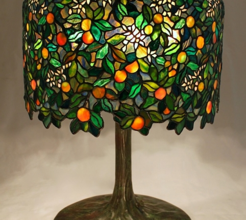 18″ Calamondin Orange Tree Lamp
