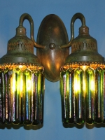 Double Wall Sconce with Prisms