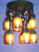 10 Light Ceiling Fixture with Lustre Balls