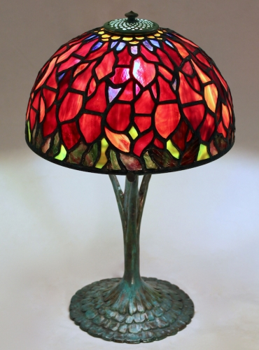 "10"" Poinsettia on Ruffle Base - Century Studios Original Design"