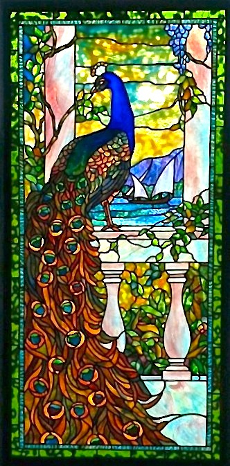 Window of the Week: Peacock on Balustrade