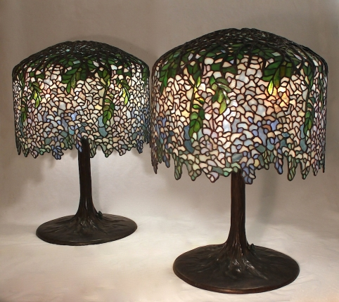 Pair of 18″ Wisteria Lamps Completed