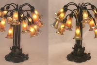 Pair of Lily Lamps