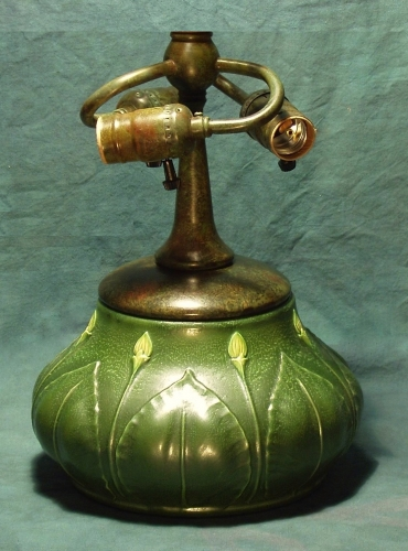 "Budding Gourd Pottery Base  - 14"" Tall"