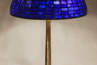 14″ Geometric lamp and Ephraim Pottery